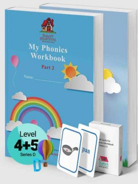 My Phonics Workbook Parts 1+2 + Flash Cards